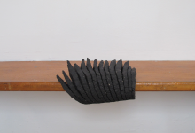 Untitled (Black grogged clay)